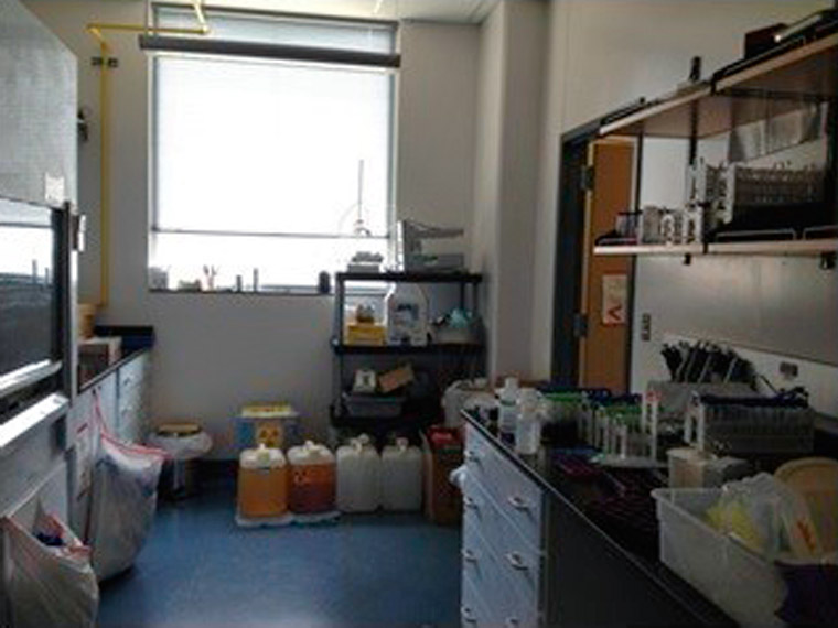 High-level radiochemistry lab (for sample processing, etc.)